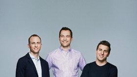 Zakladatelé Airbnb (zleva) Joe Gebbia, Nathan Blecharczyk, Brian Chesky