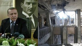 Obrazy státního převratu: Turecký parlament vypadá jako po válce.