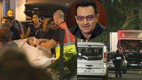 Během teroristického útoku v Nice byl na místě i zpěvák Bono Vox.