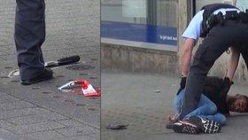 Syřana, který rozsekal svou kolegyni v německém Reutlingenu mačetou, zastavil hrdina, který ho srazil autem.