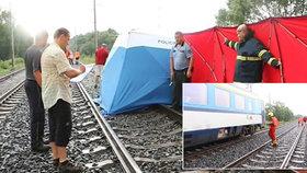 Dívka vypadla z vlaku, když šla v doprovodu rodičů na WC.