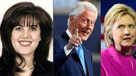 """Bill Clinton vyprávěl příběh o lásce, aby podpořil Hillary: Ta možná zasedne tam, kde """"úřadovala"""" Monica Lewinsky."""