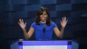 Nominační sjezd demokratů ve Filadelfii: Dosluhující první dáma Michelle Obamová