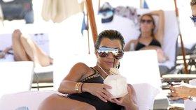Kourtney Kardashian na dovolené v Miami