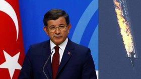 Turecký expremiér Davutoglu: Ruský letoun sestřelili na můj příkaz