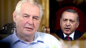 Miloš Zeman o puči v Turecku: Seznamy zatčených byly předem připravené