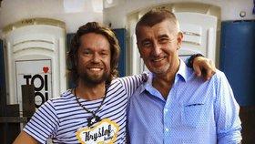 Andrej Babiš a jeho oblíbenec Richard Krajčo z kapely Kryštof