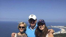 Politici v Riu: Andrej Kiska vzal dceru Natálii na vyhlídku