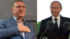 """Erdogan jede k """"příteli"""" Putinovi. Chce urovnat spory s Ruskem."""