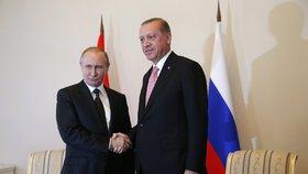 Putin se sešel s Erdoganem.