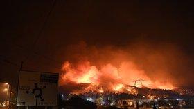 S požárem na jihu Francie bojovalo na 1800 hasičů.