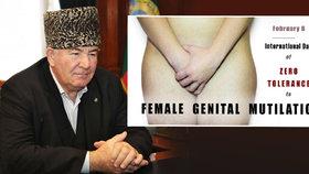 Ruský muslimský klerik šokoval: Ženská obřízka zdraví neškodí, pomáhá zklidnit ženu.