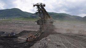 Těžba uhlí v severních Čechách