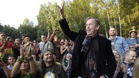 Václav Havel na trutnovském hudebním festivalu