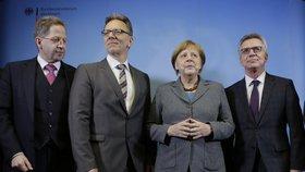 Angela Merkelová, Hans-Georg Maassen, Holger Muench,  Thomas de Maiziere