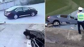Mladá řidička si spletla pedál brzy s plynem a sjela do kanálu. Zabila sebe, tatínka a kamarádku.