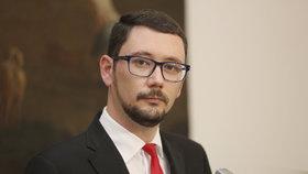 Jiří Ovčáček na tiskové konferenci