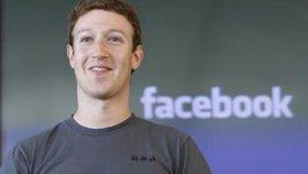 Mladý miliardář a zakladatel sociální sítě Facebook Mark Zuckerberg