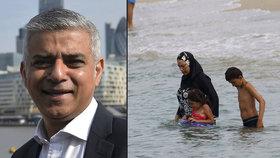 Muslimský starosta Londýna proti zákazu burkin: Neodvažujte se ženám diktovat, co mohou nosit!