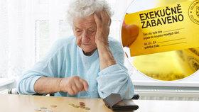 Důchodce ničí samota i exekuce.