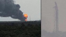 Neúspěšný test rakety na mysu Canaveral: Explodovala raketa Falcon 9