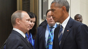 Putin a Obama na G20: Podivně dlouhá jednání nepřinesla výsledek.