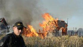 Požár kulis na pražském Barrandově