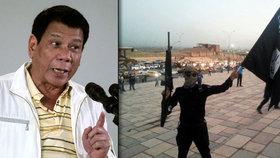 """Filipínský prezident hrozí islamistům: """"Sežeru vás zaživa,"""" říká Duterte"""