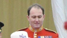 Major James Coleby měl na starosti bezpečnost královské rodiny.