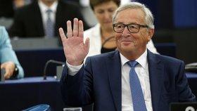 Předseda Evropské komise Jean-Claude Juncker v Evropském parlamentu