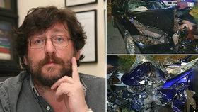 Sexuolog Weiss způsobil vážnou nehodu na Pelhřimovsku.