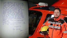 Poslední sbohěm! Manželka tragicky zesnulému záchranáři napsala dojemný vzkaz do nebe.