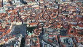 Pohled na Staré Město z balonu
