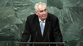 Zeman kritizoval OSN za nedostatečné nasazení proti terorismu.