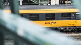 Vlaky RegioJetu na Smíchovském nádraží