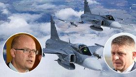 Premiéři Česka i Slovenska Bohuslav Sobotka a Robert Fico stojí o spolupráci v obraně vzdušného prostoru.