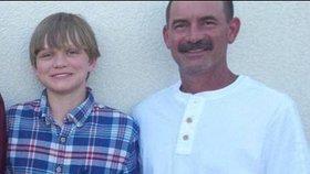 Jesse Osborne s otcem Jeffreym, kterého zastřelil.