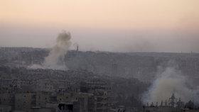 Zničené Aleppo