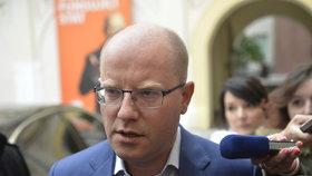 Premiér Bohuslav Sobotka předstoupil před novináře.