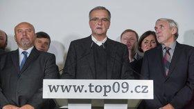 Šéf TOP 09 Miroslav Kalousek