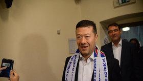 Krajské volby 2016: Tomio Okamura ve štábu SPD