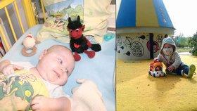 Maličký chlapec z Ostravy Dominik (2) od 6 týdnů života bojuje se zákeřnou leukemií. Čeká ho ozařování a pak transplantace kostní dřeně...