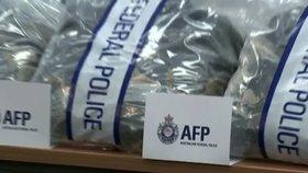 Australská policie zabavila 1,2 tuny chemikálie MDMA, která se používá k výrobě extáze.