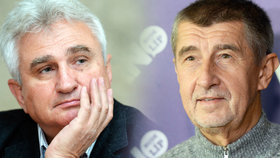 Šéf Senátu Milan Štěch (ČSSD, vlevo) a předseda hnutí ANO Andrej Babiš
