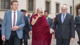 Dalajláma a ministr Daniel Herman