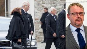 Delegace prezidenta Zemana přijíždí se zpožděním na pohřeb slovenského exprezidenta Michala Kováče. Po ministru Ťokovi teď Zeman chce, aby případ prověřil.