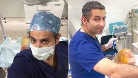 Lékař Yassine Ghazi vystavuje své pacientky na Instagramu.