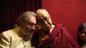 Karel Gott se setkal s Jeho Svátostí dalajlamou.