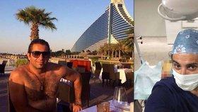 Zvrhlý lékař Yassine Ghazi si rád dopřává luxusu při cestování.