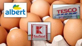 Přes tři miliony vajec z Polska musí pryč z českých obchodů. Prodával je Albert, Tesco i Kaufland.